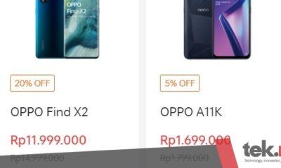 OPPO Find X2 dan OPPO A11K turun harga