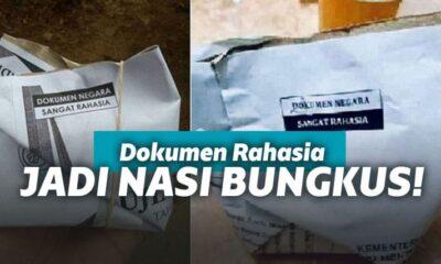Nasi bungkus dokumen rahasia